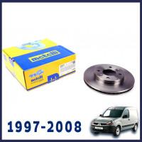 Рено Кенго 1997-2008 тормозной диск передний 238mm | Metelli (Италия)