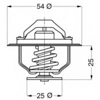 Термостат на Ситроен Джампер 2.5D-2.8HDi 94-2006| WAHLER 4174.88D