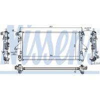 Основной радиатор на Ситроен Джампер 2.2-3.0HDi 2006- | NISSENS 63555A