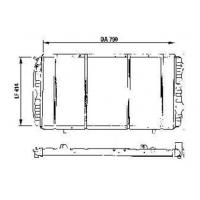 Основной радиатор на Ситроен Джампер 1,9-2,8HDi | TEMPEST TP.15.61.390