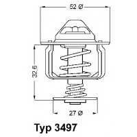 Термостат на Ситроен Джампер 2.2HDi 2006-| WAHLER 3497.88D