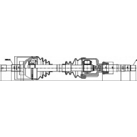 Привод передний правый Jumper/Boxer 2.5TD1.8T +ABS | GSP 210066