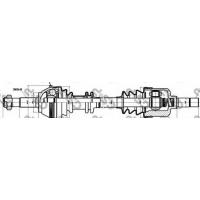 Привод передний левый Jumper/Boxer 1.0-1.4T   GSP 210037