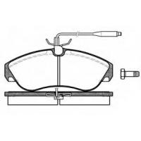 Тормозные колодки передние Ducato/Boxer/Jumper 1994-2001 1.8t | Remsa 2487.02