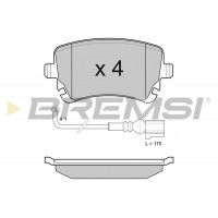 Колодки тормозные  задние VW  T5 03-  (R16 )  2003-  | BREMSI