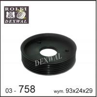 Шкив гидроусилителя Рено Кенго 1.9 (6 ручейков) | Dexwall 03-758