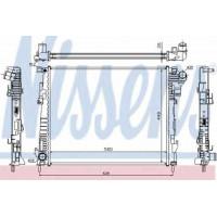 Радиатор водяной  2.0DCi Рено Трафик( с/без кондиционером)| Nissens 63122