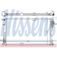 Радиатор водяной  2.0DCi Рено Трафик( с/без кондиционером)| Nissens 630709