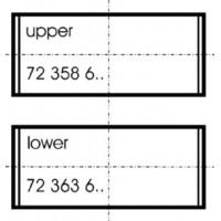 Шатунные вкладыши на Renault Trafic,Vivaro 1.9 DCi (+0.50) | Glyco 71-4311/4 0.50MM